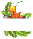 Tropical cocktail — Stock Vector