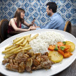 Dinner at restaurant — Stock Photo
