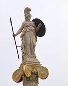 Athena statue, goddess of philosophy and wisdom — Stock Photo