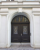 Old vintage arch door — Stock Photo