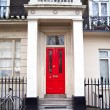 Stock Photo: Red door, Sussex gardens, London