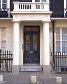 Typical house entrance, Sussex gardens, London — Stock Photo