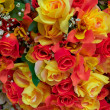 Colorful fake roses closeup — Stockfoto