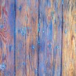 Weathered blue painted wood background — Stock Photo