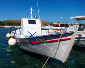Traditional Greek fishing boat, caique — Stock Photo