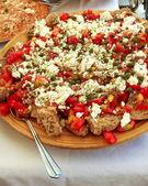 Dakos Greek gourmet plate — Stock Photo