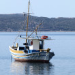 "Traditional Greek fishing boat ""kaiki"" — Stock Photo"