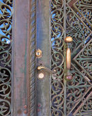 Door detail,Saint Andrew church, Patras — Stock Photo