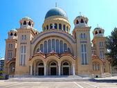 Církev svatý andrew, patras, řecko — Stock fotografie