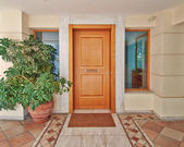 Contemporary house door, Athens — Stock Photo