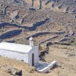 Lonely white church on mountain slopes — Stock Photo #33167405