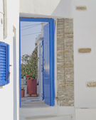 House entrance in a mediterranean island — Stock Photo