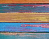 Strisce colorate di legno — Foto Stock