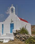 Malebný kostel, ostrov mykonos, Řecko — Stock fotografie