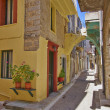 Picturesque alley, Greece — Foto Stock