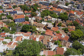 Plaka, Athens old city center, aerial view — Stock Photo