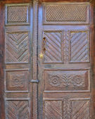 Ornate old wooden door — Foto Stock