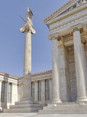 Athena statue, in front of Athens academy, Greece — Stock Photo