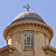 Dome detail, with Triton (ancient Greek deity) as wind vane, Athens — Stock Photo #41216027