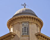 Dome detail, with Triton (ancient Greek deity) as wind vane, Athens — Foto Stock
