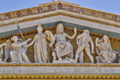 Zeus, Athena and other ancient Greek gods and deities, national university of Athens — Stock Photo