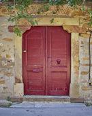 House entrance, Chios island, Greece — Stock Photo
