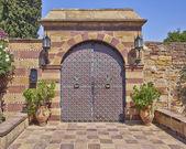 Vintage estate glamorous gate — Stock Photo