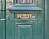 Light green door close-up — Stock Photo