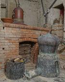 Old Greek ouzo (anice) distillery — Stock Photo