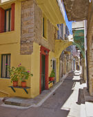 Picturesque alley, Greece — Stock Photo