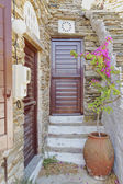 House entrance , Greece — Stock Photo