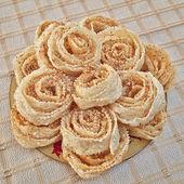 Xerotigana, dulce tradicional griega ronda de papas fritas — Foto de Stock