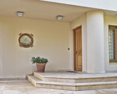 Contemporary house entrance, Athens Greece — Stock Photo
