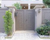 Entrada da casa, atenas-grécia — Fotografia Stock