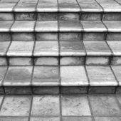 Terrakotta-treppen in schwarz und weiß — Stockfoto