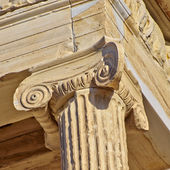Ancient column detail, Athens, Greece — Stockfoto