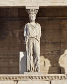 Caryatid ancient statue, Athens Greece — Stock Photo