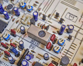 Electronic circuitry closeup — Stock Photo