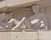 Parthenon west pediment detail, Dionysus — Stock Photo