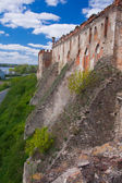 Medzhybizh castle wall — Stock Photo
