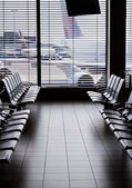 Airport departure waiting area. — Stock Photo