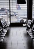 área de espera de salida de aeropuerto. — Foto de Stock
