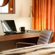 Comfortable workplace in the hotel room — Stock Photo