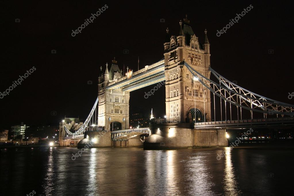 London, Tower Bridge at night  Stock Photo #12102314