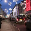 Illuminated Oxford Street in London at Christmas — Stock Video