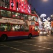 Oxford Street in London at night — Stock Video