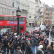Crowds and Double Deckers in London — Stock Video