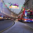Regent Street in London at Christmas — Stock Video