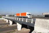 Overpass with Truck — Stock Photo