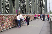 Padlocks in Cologne — Stock Photo